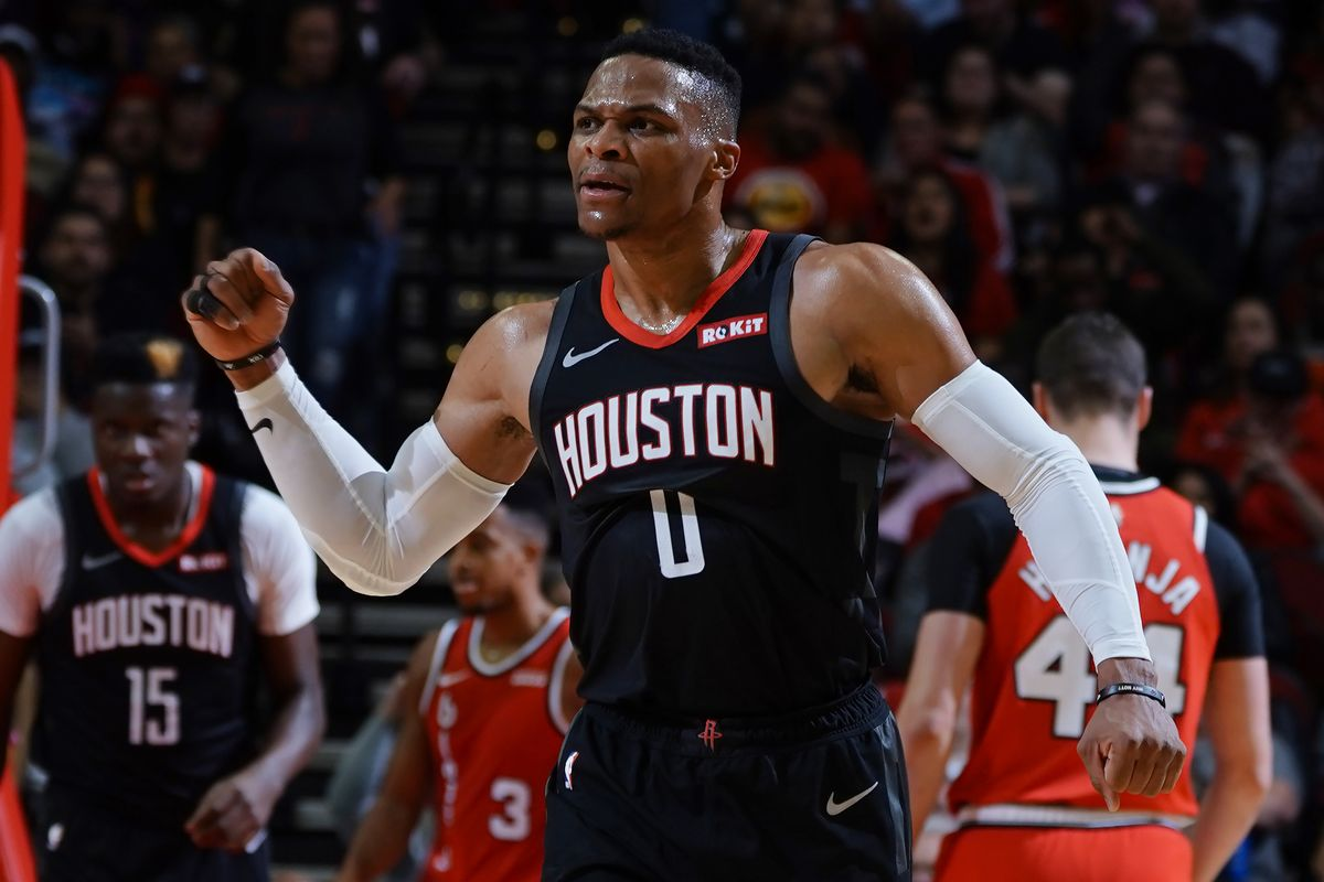 Russell Westbrook becomes the second player after LeBron James to score triple-doubles against all NBA tea