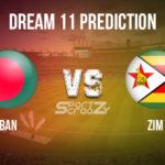 BAN vs ZIM Dream11 Prediction, Live Score & Bangladesh Vs Zimbabwe Dream11 Team: Zimbabwe tour of Bangladesh 2020