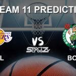 LAL vs BOS Dream11 Prediction, Live Score & Los Angeles Lakers vs Boston Celtics Basketball Match Prediction & Dream11 Team: NBA 2019-20 Regular Season