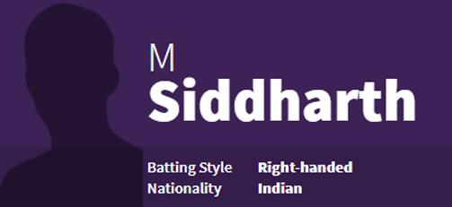 M Siddharth