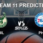 MIL vs PHI Dream11 Prediction, Live Score & Milwaukee Bucks vs Philadelphia 76ers Basketball Match Prediction & Dream11 Team: NBA 2019-20 Regular Season