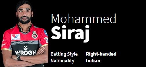 Mohammed Siraj