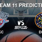 OKC vs DEN Dream11 Prediction, Live Score & Oklahoma City Thunder vs Denver Nuggets Basketball Match Dream Team: NBA 2019-20 Regular Season