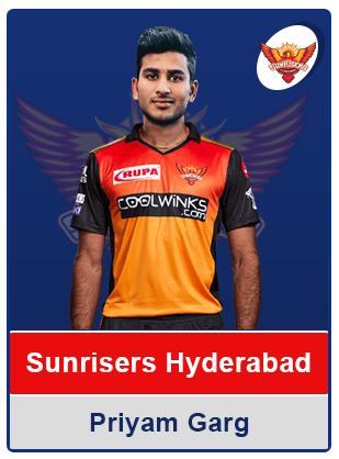 Priyam Garg Sunrisers Hyderabad