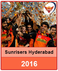 Sunrisers Hyderabad 2016