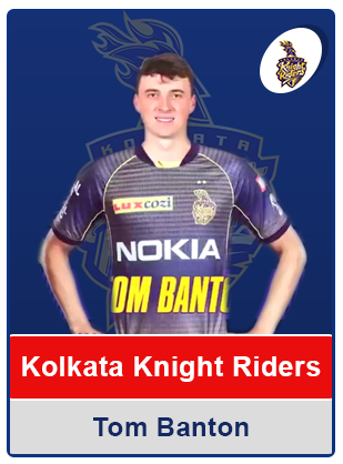 Tom Banton(Kkr)