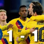 Barcelona scores an important away goal against Napoli as both the team settle for a draw