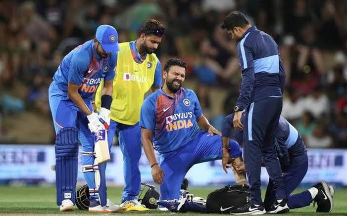 rohit sharma injured