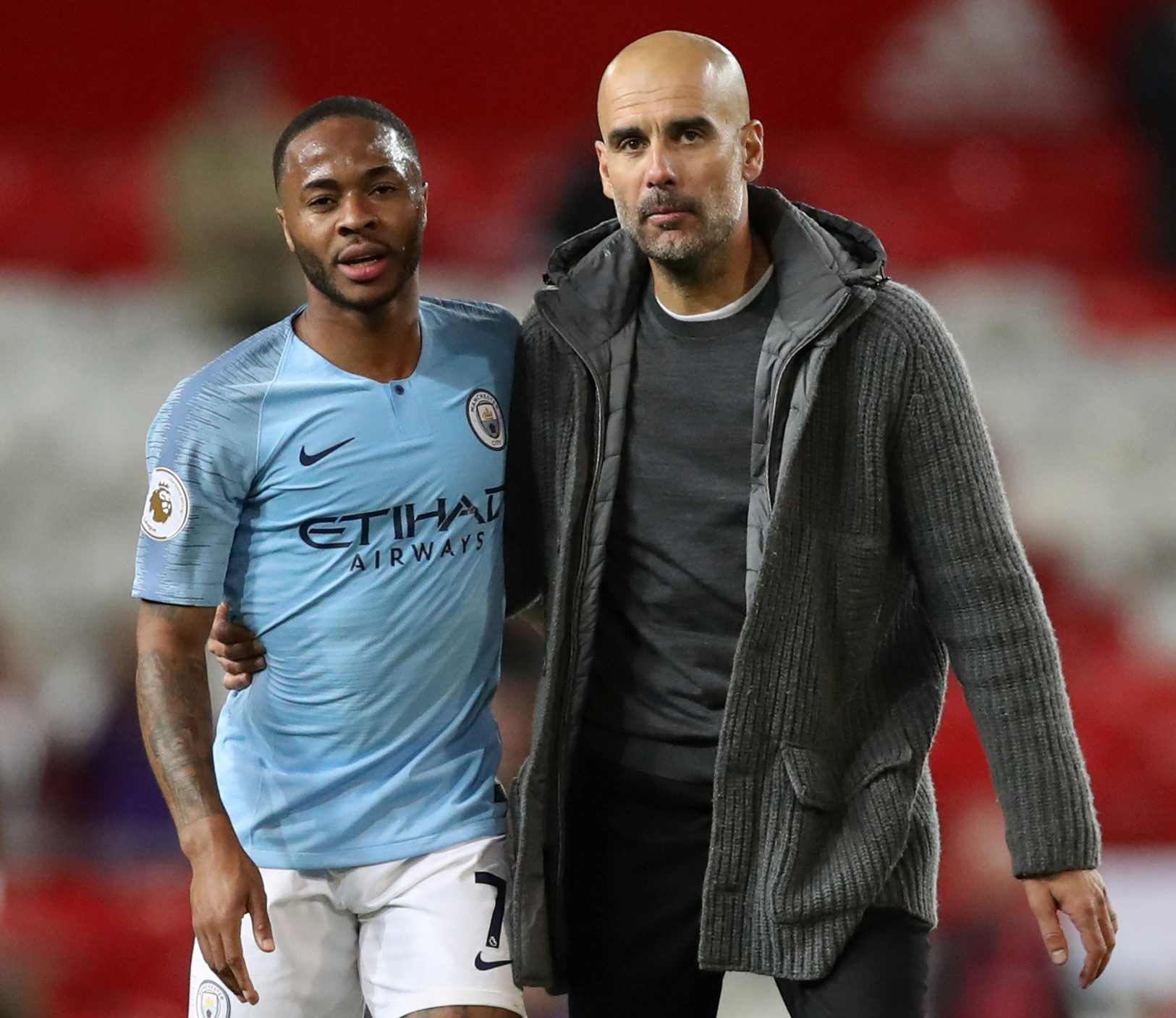 sterling and pep guardiola