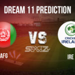 AFG vs IRE  Dream11 Prediction, Live Score & Afghanistan Vs Ireland Dream11 Team: 3rd T20I, 2020