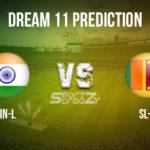 IN-L vs SL-L  Dream11 Prediction, Live Score & India Legends Vs Sri Lanka Legends Dream11 Team: Road Safety World Series T20 2020