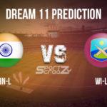 IN-L vs WI-L Dream11 Prediction, Live Score & India Legends Vs West Indies Legends Dream11 Team: Road Safety World Series 2020 - 1st T20