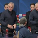 """Watch: """"Cheer up, it's going to be alright. Cheer up, it's gonna be okay"""" says journalist to Jose Mourinho"""