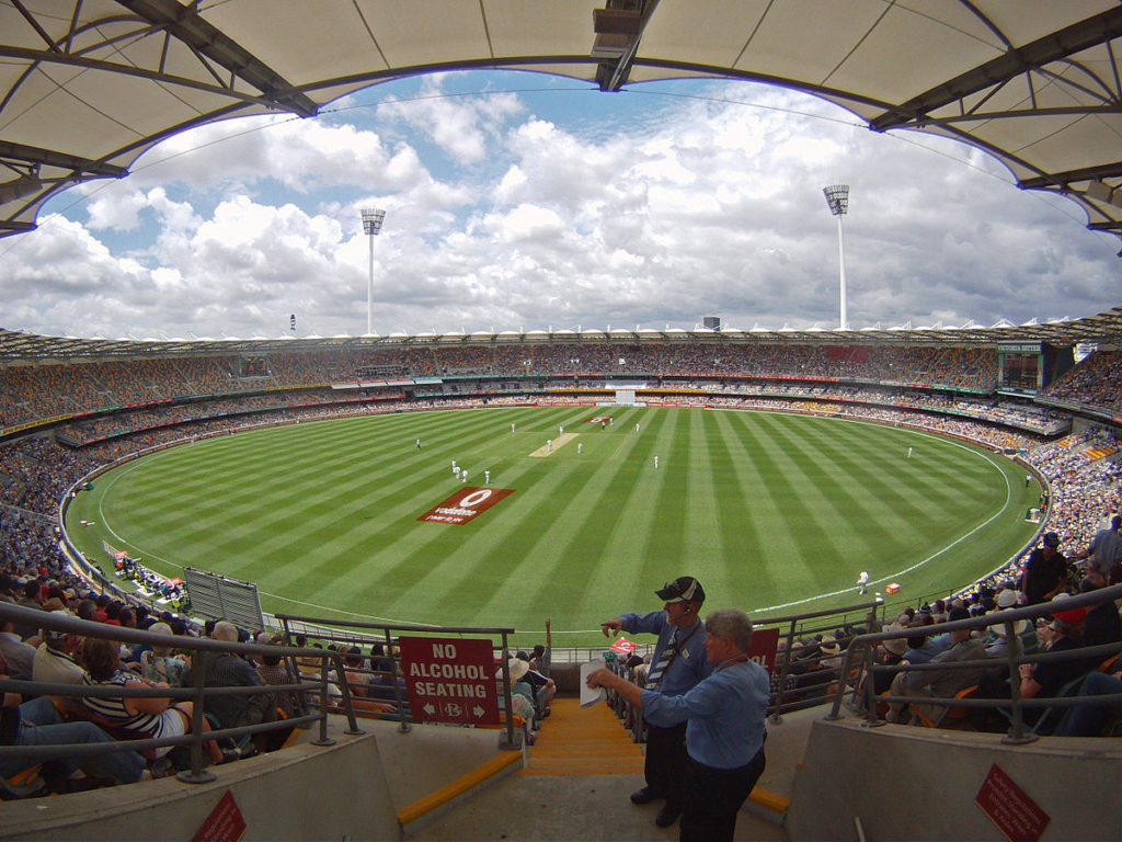 brisbane cricket stadium in Australia