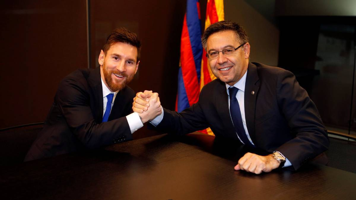 Barcelona obligated in renewing Messi's contract- Club President