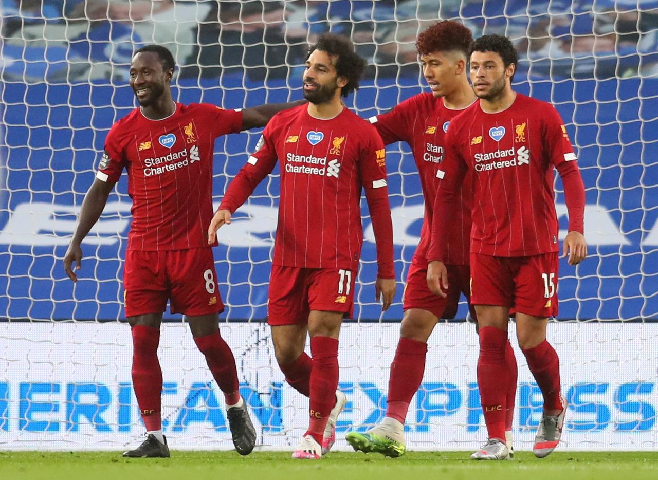 Mohamed Salah scores two goals as Liverpool beat Brighton 3-1