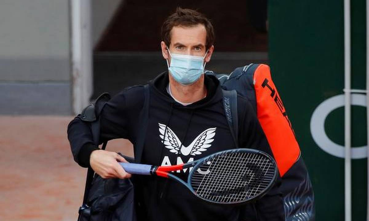 Andy  Murray test positive